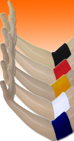 arm bands all colors; red arm band, white armband, black arm bands, blue armbands, navy sweat arm band, golden yellow armbands