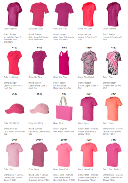 Pink Shirts & Accessories Collection 2015