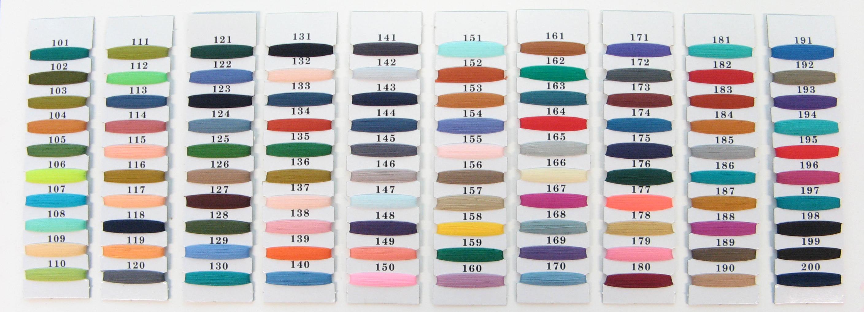 Sample Nylon color codes chart #101-#200
