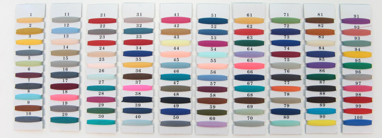 Sample Nylon color codes chart #01-#100