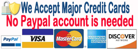 pay by major credit cards