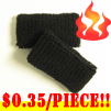 cheap black terry wristband kids size 35 cents piece