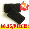 cheap black terry wristband kids size 35 cents piece