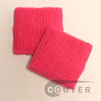 cheap bright pink terry wristband 2.5inch 60 cents piece