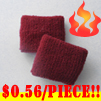 cheap dark red terry wristband youth size 56 cents piece