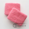 cheap pink terry wristband 2.5inch 60 cents piece