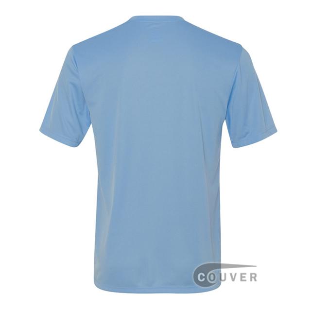 Hanes Men's Short Sleeve Cool Dri® UPF 50+ Performance T-Shirt - LightBlue - back view