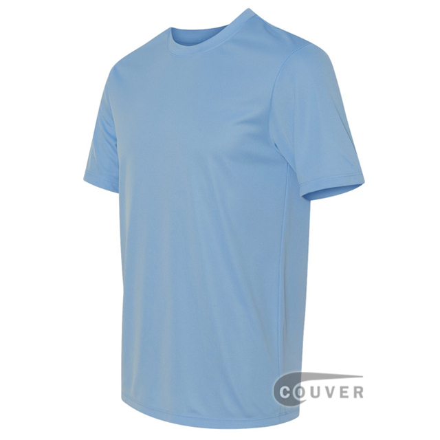 Hanes Men's Short Sleeve Cool Dri® UPF 50+ Performance T-Shirt - LightBlue - side view