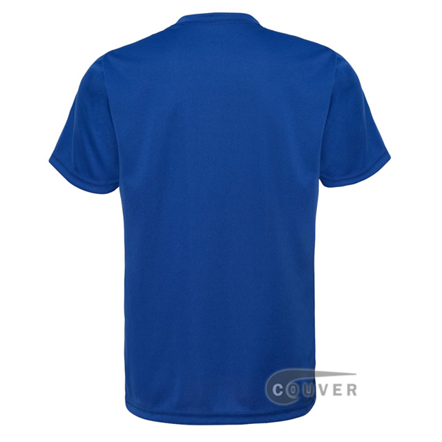 C2 Sport Blue Youth Performance T-Short - back view