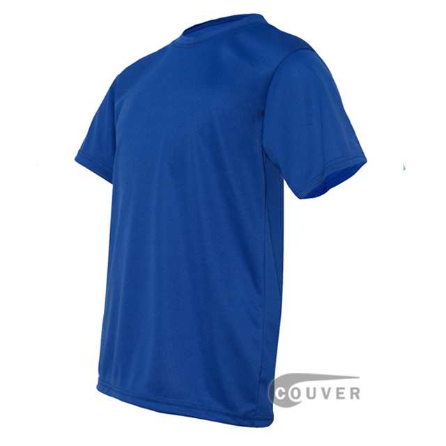 C2 Sport Blue Youth Performance T-Short - side view