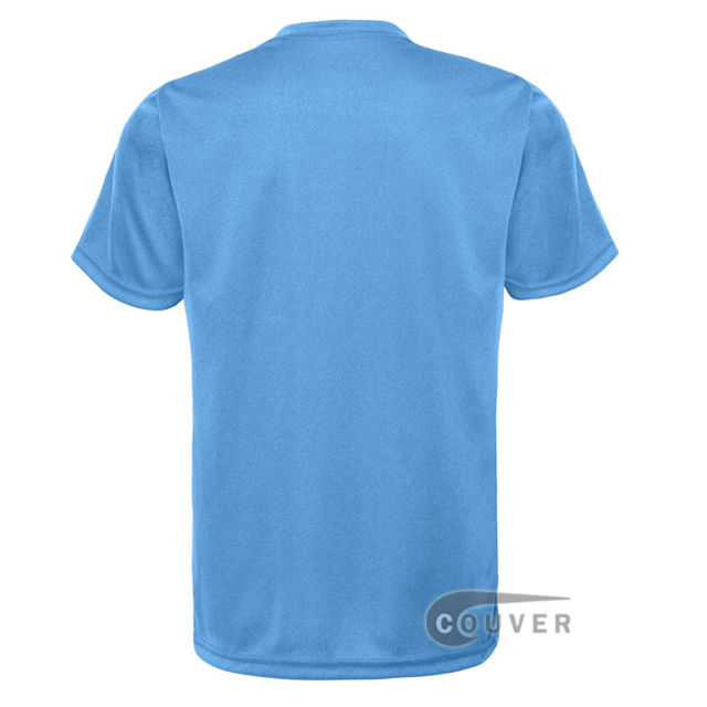 C2 Sport Columbia Blue Youth Performance T-Short - back view