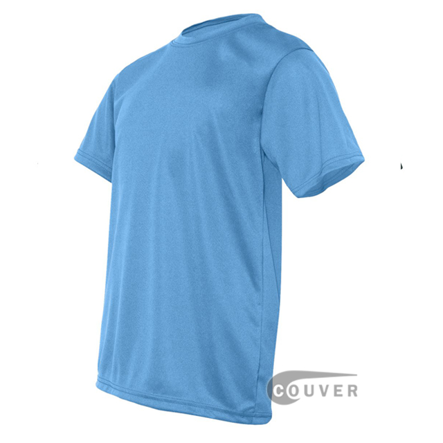 C2 Sport Columbia Blue Youth Performance T-Short - side view