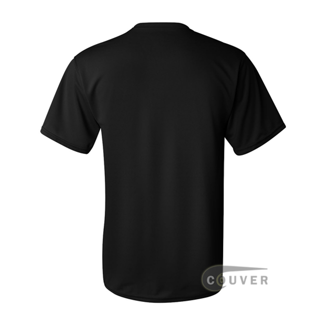 Augusta Sportswear 100% Poly Moisture Wicking T-Shirt Black - back view