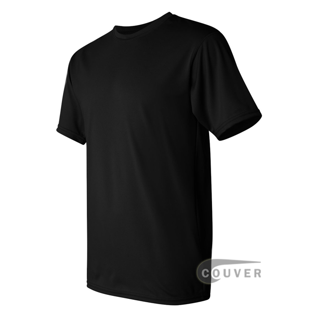 Augusta Sportswear 100% Poly Moisture Wicking T-Shirt Black - side view