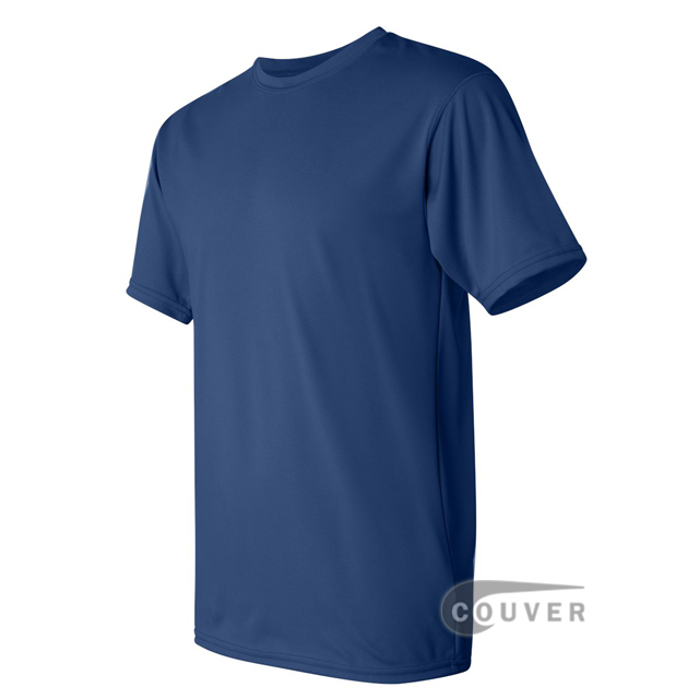 Augusta Sportswear 100% Poly Moisture Wicking T-Shirt Blue - side view