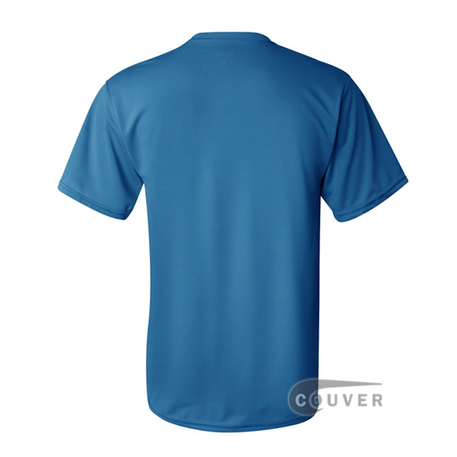 Augusta Sportswear 100% Poly Moisture Wicking T-Shirt Bright Blue - back view