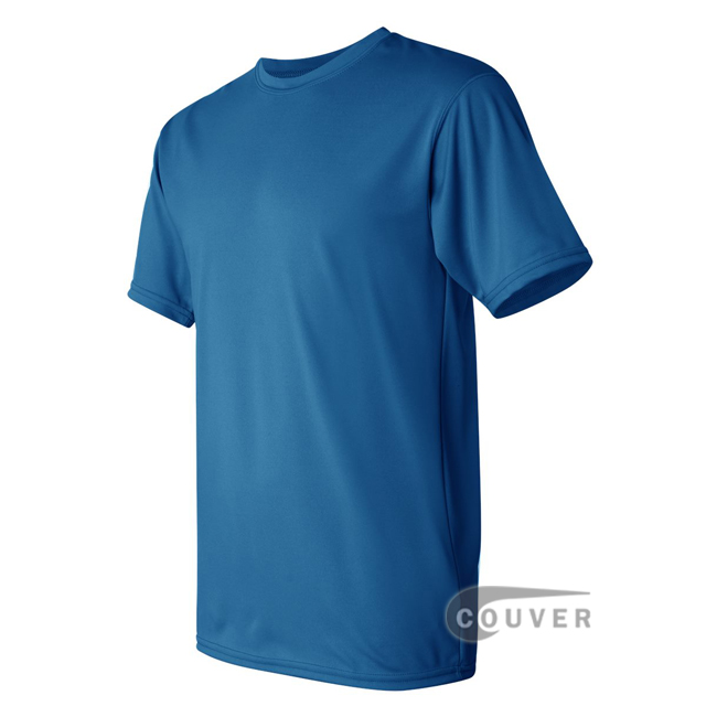 Augusta Sportswear 100% Poly Moisture Wicking T-Shirt Bright Blue - side view