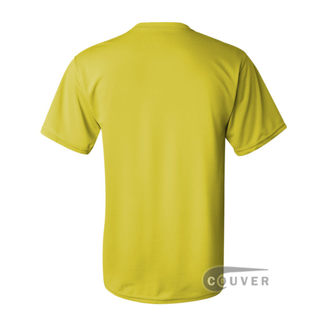 Augusta Sportswear 100% Poly Moisture Wicking T-Shirt Bright Yellow - back view