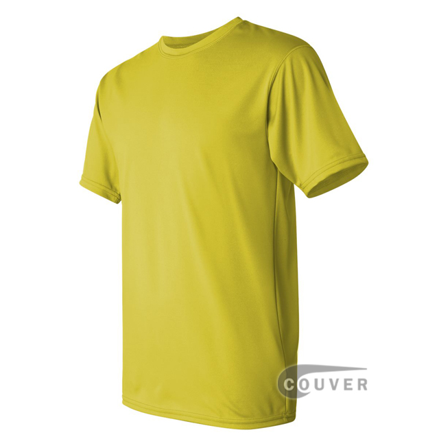 Augusta Sportswear 100% Poly Moisture Wicking T-Shirt Bright Yellow - side view