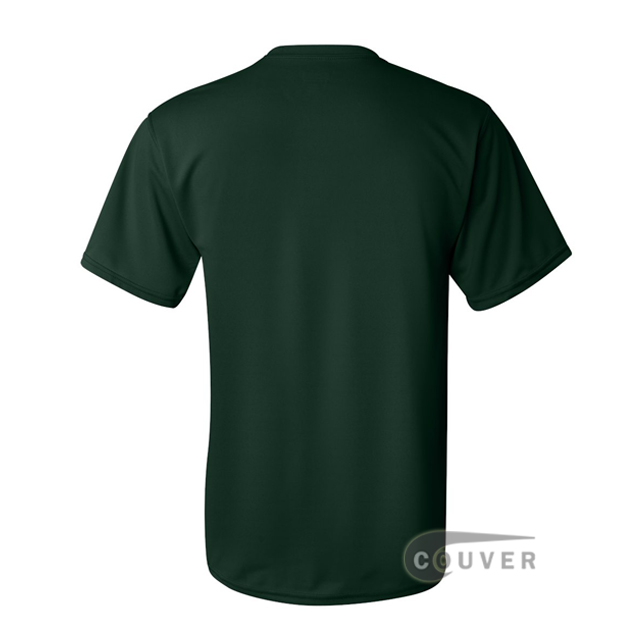 Augusta Sportswear 100% Poly Moisture Wicking T-Shirt Dark Green - back view