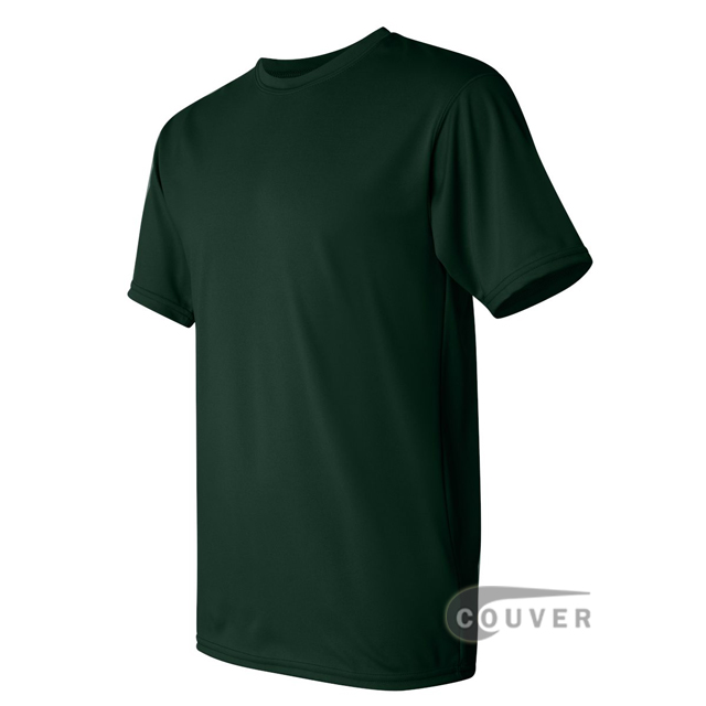 Augusta Sportswear 100% Poly Moisture Wicking T-Shirt Dark Green - side view