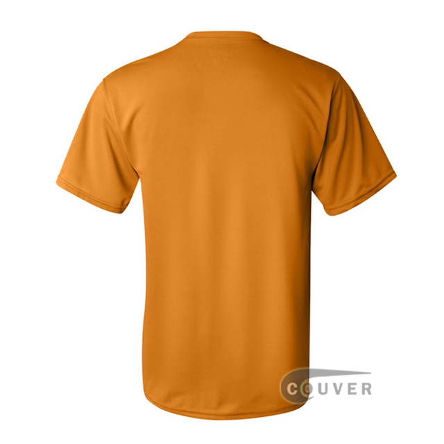 Augusta Sportswear 100% Poly Moisture Wicking T-Shirt Gold - back view