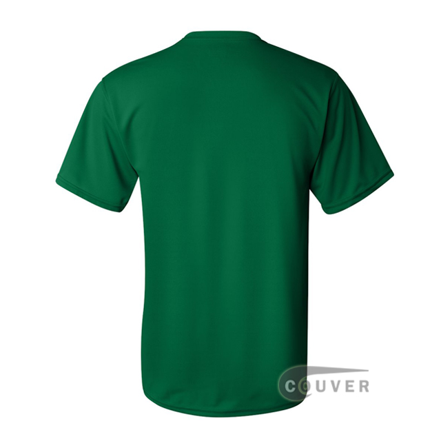 Augusta Sportswear 100% Poly Moisture Wicking T-Shirt Green - back view