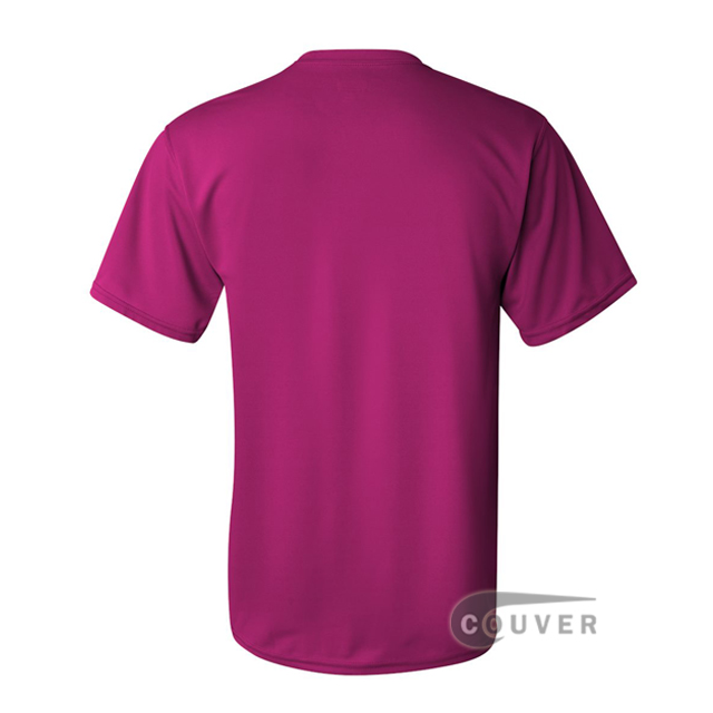 Augusta Sportswear 100% Poly Moisture Wicking T-Shirt Hot-Pink - back view