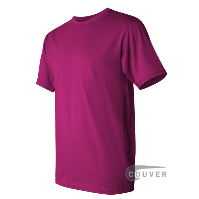 Augusta Sportswear 100% Poly Moisture Wicking T-Shirt Hot-Pink - side view