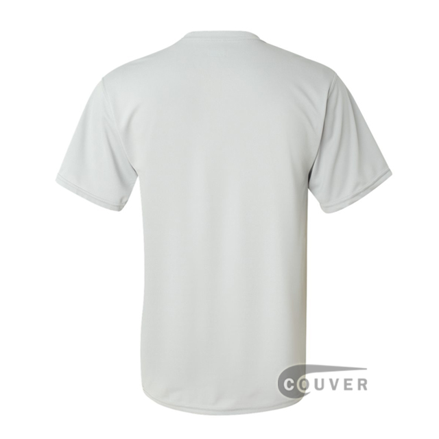 Augusta Sportswear 100% Poly Moisture Wicking T-Shirt Light Grey - back view
