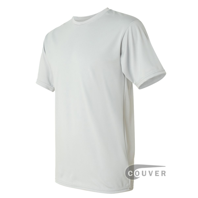 Augusta Sportswear 100% Poly Moisture Wicking T-Shirt Light Grey - side view