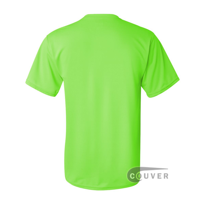 Augusta Sportswear 100% Poly Moisture Wicking T-Shirt Lime - back view