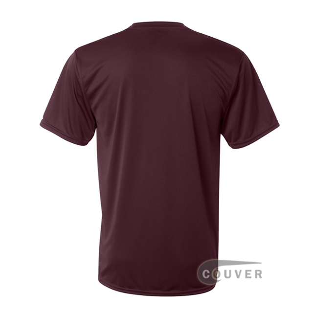 Augusta Sportswear 100% Poly Moisture Wicking T-Shirt Maroon - back view