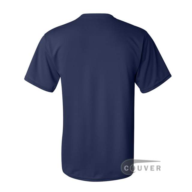 Augusta Sportswear 100% Poly Moisture Wicking T-Shirt Navy - back view