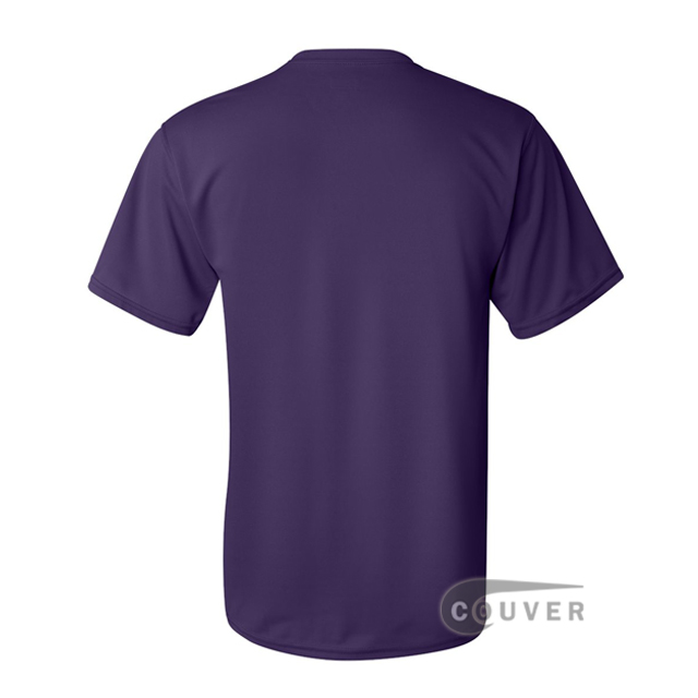 Augusta Sportswear 100% Poly Moisture Wicking T-Shirt Purple - back view