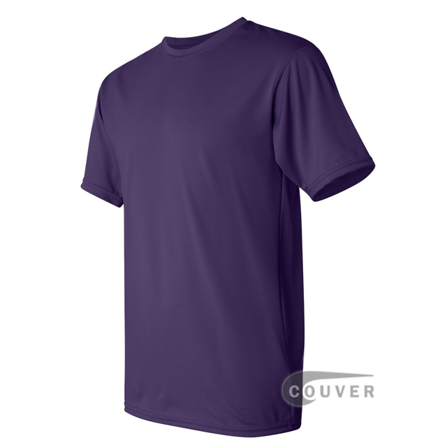 Augusta Sportswear 100% Poly Moisture Wicking T-Shirt Purple - side view