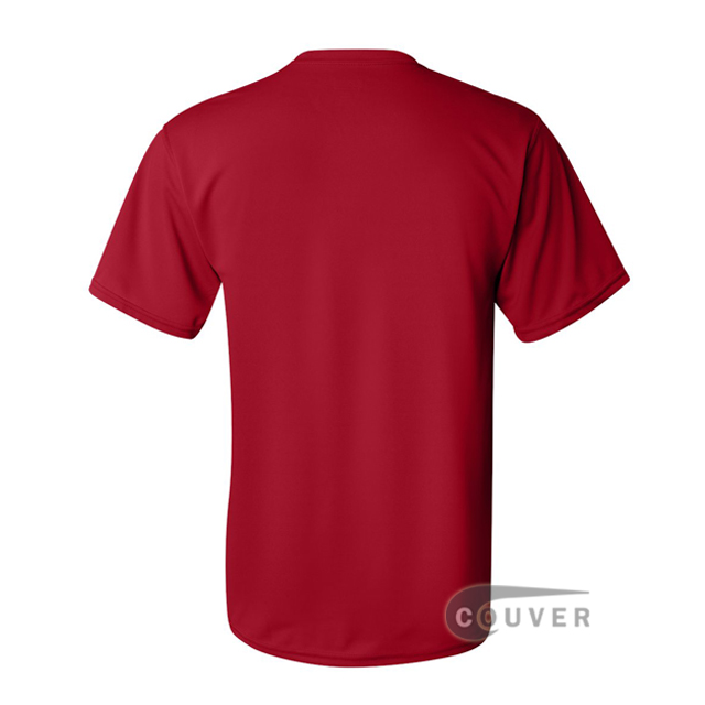 Augusta Sportswear 100% Poly Moisture Wicking T-Shirt Red - back view