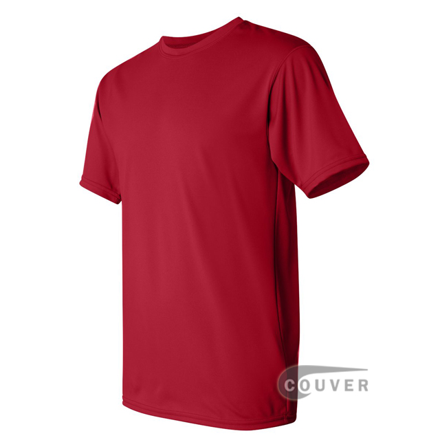Augusta Sportswear 100% Poly Moisture Wicking T-Shirt Red - side view
