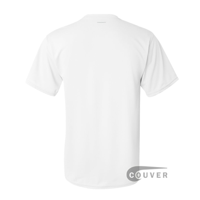 Augusta Sportswear 100% Poly Moisture Wicking T-Shirt White - back view
