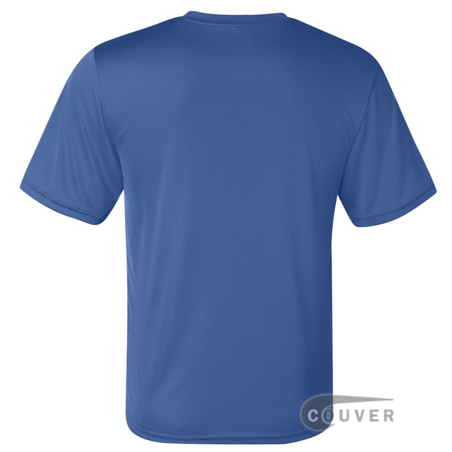 Champion Men's Double Dry Performance T-Shirt - Blue - back view