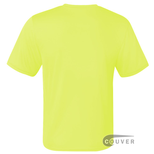 Champion Men's Double Dry Performance T-Shirt - Safety-Green - back view