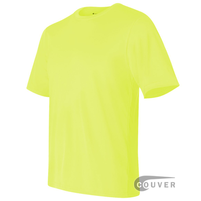 Champion Men's Double Dry Performance T-Shirt - Safety-Green - side view
