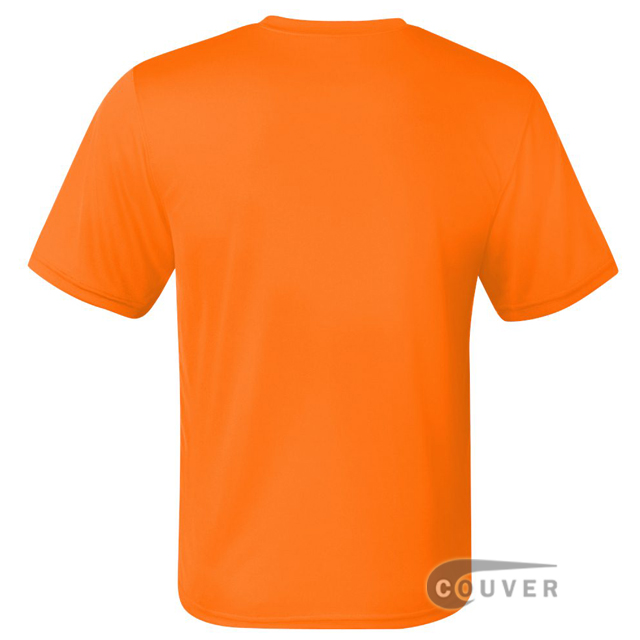 Champion Men's Double Dry Performance T-Shirt - Safety-Orange - back view