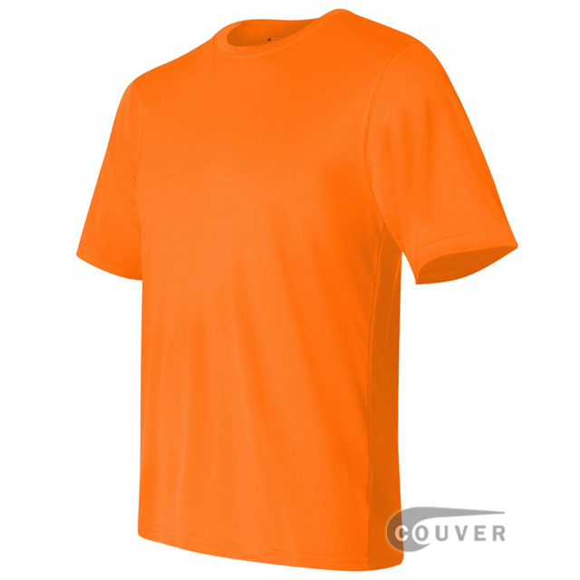 Champion Men's Double Dry Performance T-Shirt - Safety-Orange - side view