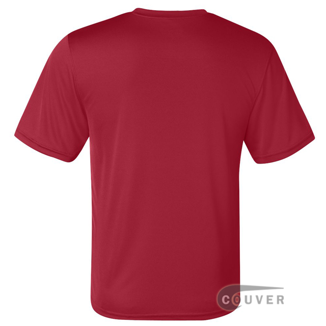 Champion Men's Double Dry Performance T-Shirt - Scarlet - back view