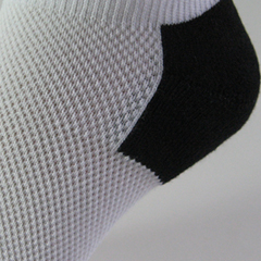 breathable mesh no show sock cushion heel zoomed view