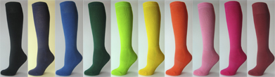 Kids Child Youth Baseball Softball Socks Knee High Length Plain Style