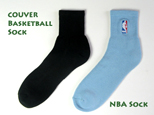 couver basketball sock and nba basketball sock