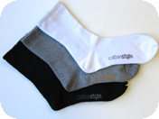 men's cotton style athletic sports socks
