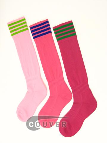 Football / Soccer socks - Shades of pinks (hotpink, lightpink, bright pink)